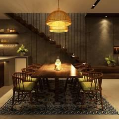 غرفة السفرة تنفيذ Văn Phòng Kiến Trúc Một Nhà, تبسيطي