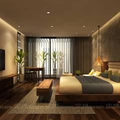 غرفة نوم تنفيذ Văn Phòng Kiến Trúc Một Nhà