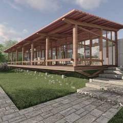 Country house by ArqClub - Studio de Arquitetura, Minimalist Wood Wood effect