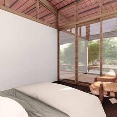 Bedroom by ArqClub - Studio de Arquitetura, Minimalist Wood Wood effect