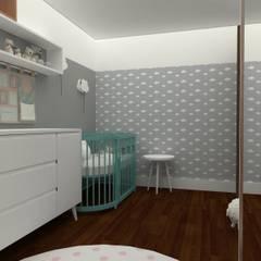 Dormitorios de bebé de estilo  por Angelica Pecego Arquitetura,