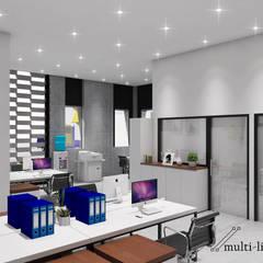 Office Building:  Gedung perkantoran by Multiline Design
