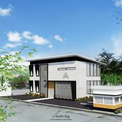 Office Building: Gedung perkantoran oleh Multiline Design, Industrial