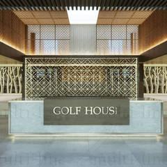 Suvarna Golf Club House:  Ruang Komersial by Multiline Design