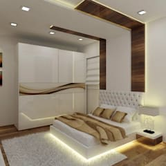 Master Bedroom:  Bedroom by A Design Studio