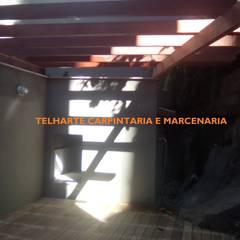 Jardines de invierno de estilo  por TELHARTE CARPINTARIA E MARCENARIA