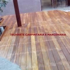 Jardins de Inverno rústicos por TELHARTE CARPINTARIA E MARCENARIA Rústico