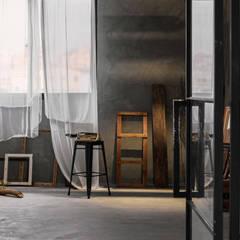 目沐攝影棚 Mu-Mu Studio:  辦公室&店面 by 漢玥室內設計, 隨意取材風