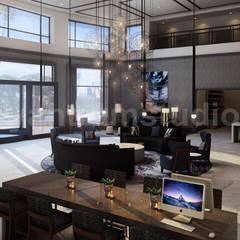 3D Hotel lobby Interior Design:  Hotels by Yantram Architectural Design Studio