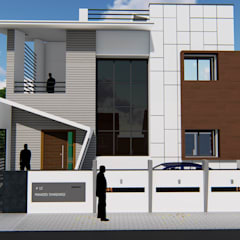 Front Elevation :  Bungalows by Cfolios Design And Construction Solutions Pvt Ltd