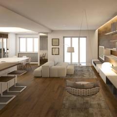 Abitazione Privata T1: Soggiorno in stile  di Architetto Adalberto Pacillo