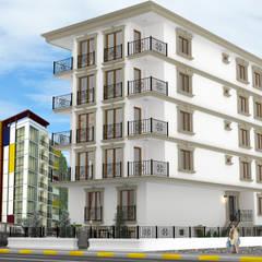 Projekty,  Dom wielorodzinny zaprojektowane przez Altuncu İç Mimari Dekorasyon