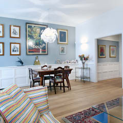 eclectic Dining room by Filippo Colombetti, Architetto