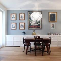 Antico & Contemporaneo: Sala da pranzo in stile  di Filippo Colombetti, Architetto