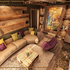 by Dalia Gaber ,Modern livingroom :  غرفة المعيشة تنفيذ DeZign center office by Dalia Gaber