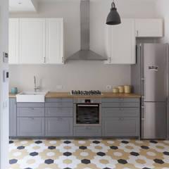 No. Lo. Flat: Cucina attrezzata in stile  di Filippo Colombetti, Architetto