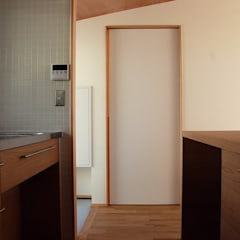 thin frame of door: 丸菱建築計画事務所 MALUBISHI ARCHITECTSが手掛けた引き戸です。