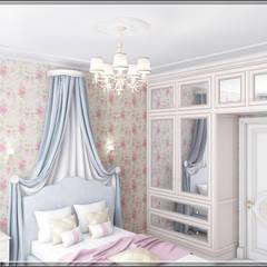 Белый в золотой оправе: Спальни для девочек в . Автор – Студия дизайна Светланы Исаевой