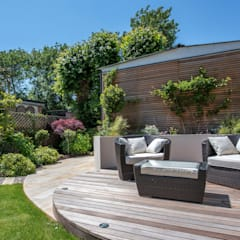 A South Facing Contemporary Family Garden: Garden By Kate Eyre Garden Design