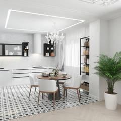 Париж: Кухонные блоки в . Автор – Студия дизайна Светланы Исаевой