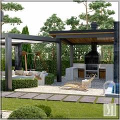 дом: Передний двор в . Автор – Студия дизайна Светланы Исаевой