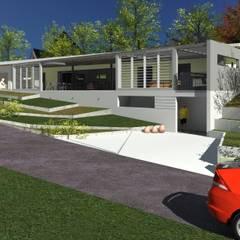 villa contemporaine: Villa de style  par A.FUKE-PRIGENT ARCHITECTE