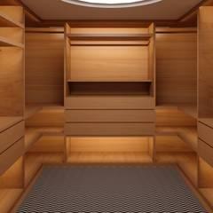 Habitação M&S: Closets  por Fabio Pereira & João Fraga, Arquitetos