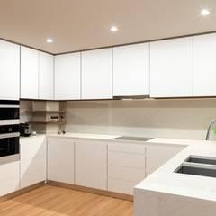 Reabilitação de Apartamento : Cozinhas  por Fabio Pereira & João Fraga, Arquitetos