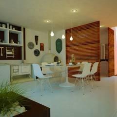 JACUHY HOUSE: Cozinhas tropicais por DECEM ARQUITETURA E PLANEJAMENTO