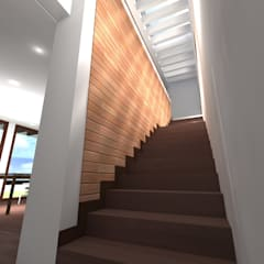 CASA ERRAZURIZ-HUECHURABA : Escaleras de estilo  por Casabella