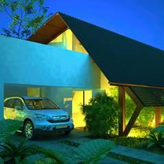 Chalets & maisons en bois de style  par DECEM ARQUITETURA E PLANEJAMENTO