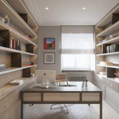 SASKA KĘPA: styl , w kategorii Domowe biuro i gabinet zaprojektowany przez Katarzyna Kraszewska Architektura Wnętrz
