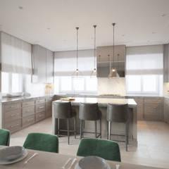 SASKA KĘPA: styl , w kategorii Kuchnia zaprojektowany przez Katarzyna Kraszewska Architektura Wnętrz