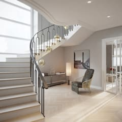 Escaleras de estilo  por Katarzyna Kraszewska Architektura Wnętrz