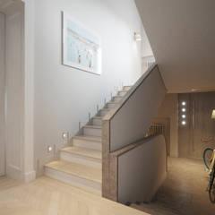 SASKA KĘPA: styl , w kategorii Schody zaprojektowany przez Katarzyna Kraszewska Architektura Wnętrz