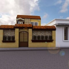Fachada Principal: Casas unifamiliares de estilo  por MC/AP Arquitectos