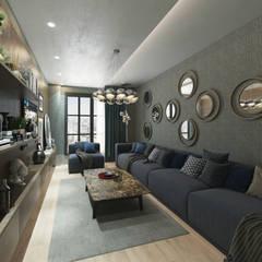 50GR Mimarlık – Beylikdüzü_daire tasarımı:  tarz Oturma Odası