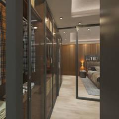 50GR Mimarlık – Beylikdüzü_daire tasarımı: modern tarz Giyinme Odası