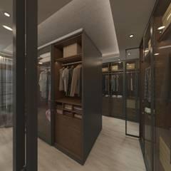 50GR Mimarlık – Beylikdüzü_daire tasarımı:  tarz Giyinme Odası