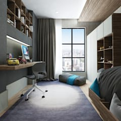 50GR Mimarlık – Beylikdüzü_daire tasarımı:  tarz Çocuk Odası