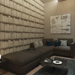 50GR Mimarlık – Beylikdüzü_daire tasarımı: modern tarz Multimedya Odası