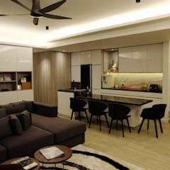 minimalistische Esszimmer von inDfinity Design (M) SDN BHD