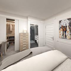 """Progetto villetta """"New Classic"""": Camera da letto in stile  di studiosagitair"""