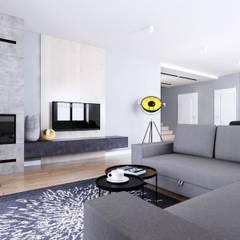 Dom Orońsko: styl , w kategorii Salon zaprojektowany przez Klaudia Tworo Projektowanie Wnętrz Sp. z o.o.