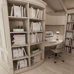 colonial Study/office by studiosagitair