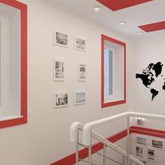 Авангард. Дизайн частного дома: Лестницы в . Автор – Цунёв_Дизайн. Студия интерьерных решений., Эклектичный