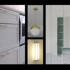 appartement QDO: Dressing de style  par Laure van Gaver,