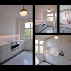 appartement QDO: Cuisine de style de style Classique par Laure van Gaver