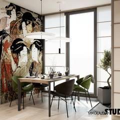 JAPOŃSKIE INSPIRACJE: styl , w kategorii Jadalnia zaprojektowany przez MIKOŁAJSKAstudio