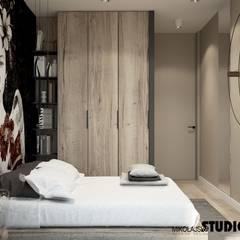 SYPIALNIA, MOTYW JAPOŃSKI: styl , w kategorii Sypialnia zaprojektowany przez MIKOŁAJSKAstudio